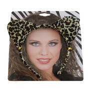 Leopard Print Ears on Headband Pk 1