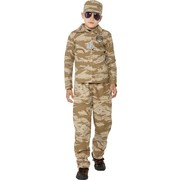 Desert Army Soldier Child Costume (Large, 10-12 Yrs) Pk 1