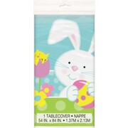 Happy Easter Bunny Spring Plastic Tablecover (1.37m x 2.13m) Pk 1