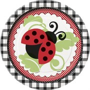 Ladybugs Paper Plates - 7in Pk 8