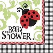 Ladybug Baby Shower Lunch Napkins Pk 16