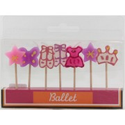 Ballet Party Cake Candles Pk 7