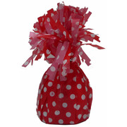 Red Balloon Weight with White Polka Dots Pk 1