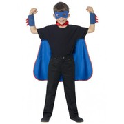Blue Super Hero Child Costume Kit (Cape, Mask & Cuffs) Pk 1