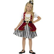 Child Deluxe Pirate Girl Costume (Large, 10-12 Years)