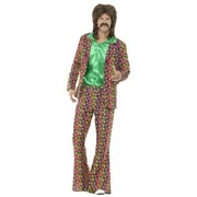 Adult 60's Psychedelic Hippie Suit Costume (Medium, 38-40)