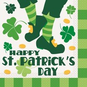 Happy St. Patrick's Day 2 Ply Lunch Napkins Pk 16