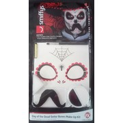 Day of the Dead El Senor Bones Make Up Kit Pk 1