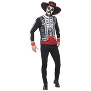 Adult Day of the Dead El Senor Costume (Medium, 38-40)