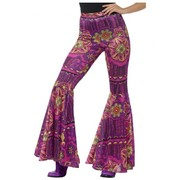 Adult Woman Flared Hippie Trousers Costume (Medium - Large) Pk 1