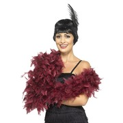 Deluxe Burgundy / Maroon Feather Boa Pk 1 (FEATHER BOA ONLY)