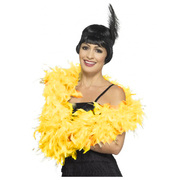 Deluxe Yellow Feather Boa Pk 1 (FEATHER BOA ONLY)