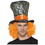 Mad Hatter Top Hat with Orange Hair Pk 1