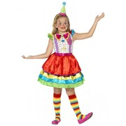 Child Clown Girl Costume (Medium, 7-9 Years)