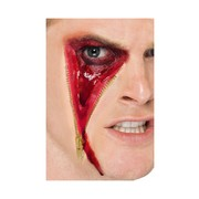 Halloween Zip Face Flesh Latex Scar with Adhesive Pk 1