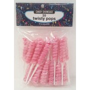 Pink Twisty Pop Lollipops 240g (20 Lollipops)