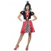 Adult Woman Carded Queen Of Hearts Costume (Small, 8-10)