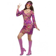 Adult Woodstock Hippie Chick Costume (Large, 16-18)