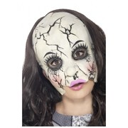 Adult Halloween Damaged Doll Mask Pk 1