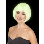 Glow in the Dark Short Bob Wig Pk 1
