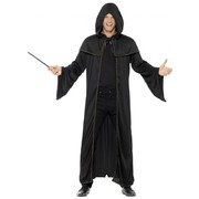 Adult Wizard Black Cloak / Cape Costume (One Size Fits Most - CLOAK ONLY) Pk 1