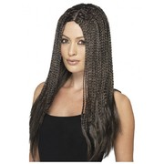 90's Long Brown Braid Wig Pk 1