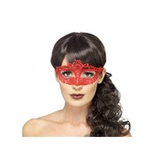 Red Filigree Lace Eye Mask Pk 1