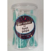 Blue Baby Feet Shaped Lollipops Pk 24