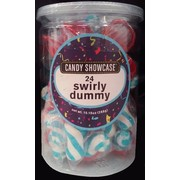 Blue Swirly Dummy/Pacifier Lollies Pk 24