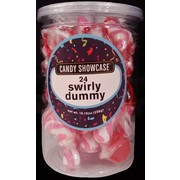 Pink Swirly Dummy/Pacifier Lollies Pk 24