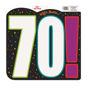 Birthday Cheer 70 Sign In Cutout Pk 1
