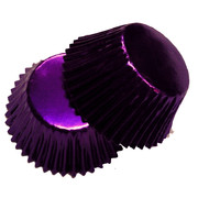 Large Purple Foil Cupcake Cases Pk 25