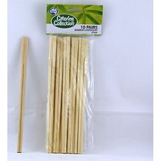 Wooden Bamboo Chopsticks (21cm) Pk 10