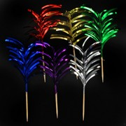 Foil Frill Picks Pk12 (Assorted Colours)