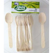 Wooden Dessert Spoons (155mm) Pk 25