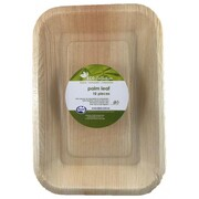 Eco Palm Leaf Rectangular Plates (10in. x 7in.) Pk 10