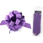 Diamond Purple 8in Pull Bow Decoration Pk 1