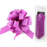 Diamond Fuchsia 8in Pull Bow Decoration Pk 1