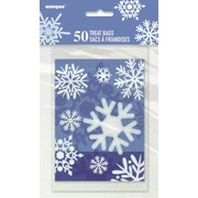 Christmas Snowflake Treat Party Bags (15cm x 10cm) Pk 50