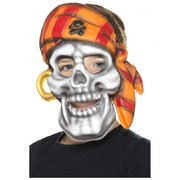 Child Pirate Skull Face Mask Pk 1