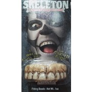 Halloween Skeleton Teeth with Fitting Beads Pk 1