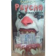 Halloween Psycho Clown Teeth with Fitting Beads Pk 1