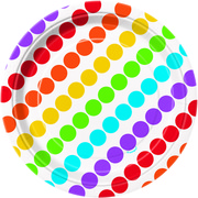 Rainbow Birthday Small Paper Plates Pk 8