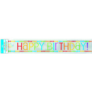 Rainbow Birthday Foil Banner 3.6m Pk 1