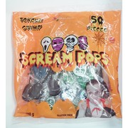 Halloween Tongue Tattoo Scream Lollipops (400g - Approx. 50 Pieces)