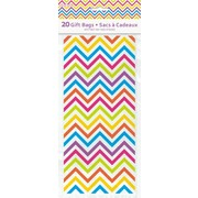 Bright Chevron Cello Gift Bags (29cm x 13cm) Pk 20