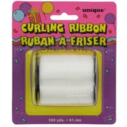 Ribbon Curling 100Yds 5mm White Pk1
