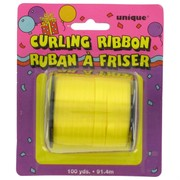 Ribbon Curling 100Yds 5mm Yellow Pk1