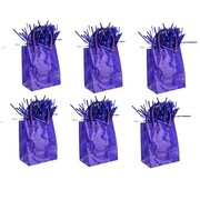 Prismatic Purple Giftbag Balloon Weight Pk 6