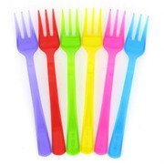 Assorted Plastic Cocktail Forks (10cm) Pk 24